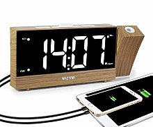 MIZHMI projection alarm clocks radio alarm clock