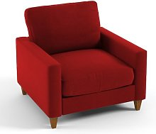Mizpah Armchair Mercury Row Upholstery: Red