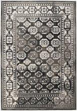 MIZRAHI Grey Rectangle Traditional Rug