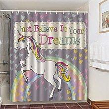 MJHUS Shower curtainBathing Cat Printing Bathroom