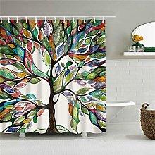 MJHUS Shower curtainColorful Plant Trees Scenic
