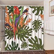MJHUS Shower curtainShower Curtains Green Tropical