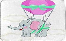 MJIAX Bath Mat Bathroom Rugs,Baby Elephant With