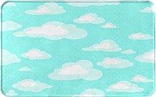 MJIAX Bath Mat Bathroom Rugs,Blue Sky With