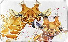 MJIAX Bath Mat Bathroom Rugs,Cute Giraffe With