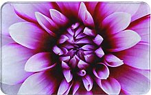 MJIAX Bath Mat Bathroom Rugs,Dahlia Flower With