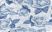 MJIAX Bath Mat Bathroom Rugs,Floral Pattern With