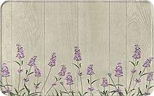MJIAX Bath Mat Bathroom Rugs,Lavender Flowers With