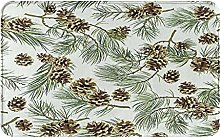 MJIAX Bath Mat Bathroom Rugs,Pattern With Pine