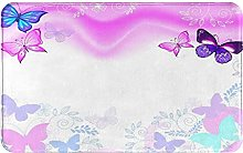 MJIAX Bath Mat Bathroom Rugs,Pink Background With