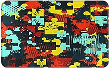 MJIAX Bath Mat Bathroom Rugs,Puzzle Pattern For