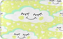 MJIAX Bath Mat Bathroom Rugs,Smiling Cloud With