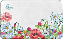 MJIAX Bath Mat Bathroom Rugs,Wild Flowers For