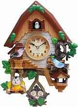 MJJLT Cuckoo Clock, Antique Wooden Cuckoo Bird