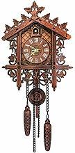 MJJLT Cuckoo Clock, Forest Mechanical Wooden