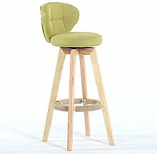 MJK Bar Chair,Minimalist Leisure Chair Retro Solid