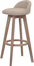 MJK Bar Chair,Minimalist Leisure Chair Solid Wood