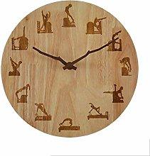 MJK Novelty Wall Clock,Exercise Positions Wooden