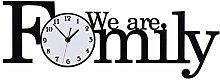 MJK Novelty Wall Clock,Family Style Clock, Large