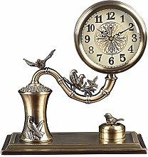 MJK Novelty Wall Clock,Modern Simple Metal Table