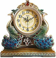 MJK Novelty Wall Clock,Nordic Retro Peacock Clock