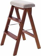 MJL Stepladder Folding 3 Tread Stepstool Ladder,