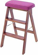 MJL Wood Folding Step Stool, Stair Chair Sponge