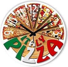 MJWLKJ Wall Clock Pattern Fashion Pizza Kitchen