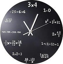 MJWLKJ Wall Clock Pattern Large Wall Clock