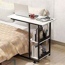 MJY Folding Table Mobile Computer Desk Simple and