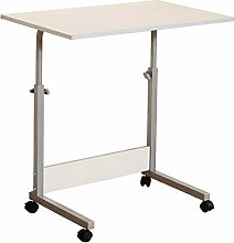 MJY Folding Table Wood Desk with Adjustable Height