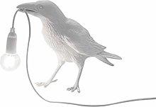 MJYT USB Birds Table Lamps Bedroom Resin Crow Desk