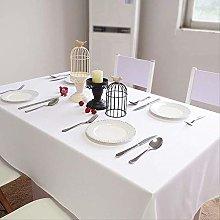 MKHB White Cotton Linen Tablecloth Rectangular