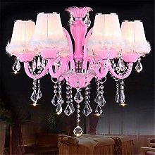 MKKM Chandelier,Modern Crystal Pink Chandelier