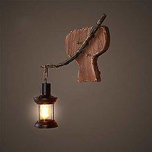 MKKM Creative Wall Lighting- Wall Lamp Wooden Art