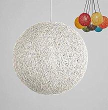 MKKM Lattice Wicker Rattan Globe Ball Style