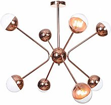 MKKM Mid Century Sputnik 6 Light Chandelier G4