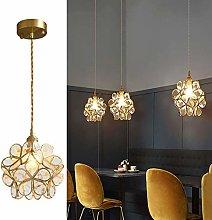 MKKM Modern Hanging Pendant Light Fixture,Brass