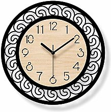 MKKM Novelty Home Wall Clock, Creative Round