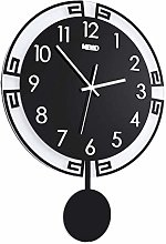 MKKM Novelty Home Wall Clock, Living Room Mute
