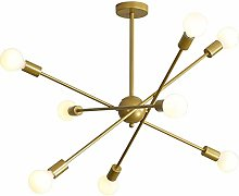 MKKM Sputnik Chandelier 6 Lights Contemporary,E27