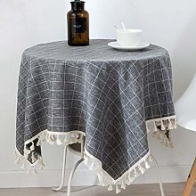 MKKM Square Rectangular Tablecloth Round Table