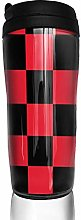 MKLQ Black and Red Curved Coffee Cup Travel Mug
