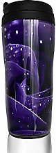 MKLQ Purple Rose Curved Coffee Cup Travel Mug