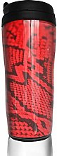MKLQ Red Snake Skin Curved Coffee Cup Travel Mug