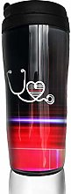 MKLQ Thin Red Line Flag Nurse Stethoscope Curved