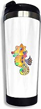 MKLQ Yellow Blaze Travel Coffee Mug with Flip Lid