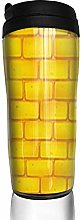 MKLQ Yellow Brick Road Curved Coffee Cup Travel