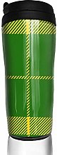 MKLQ Yellow Green Plaid Curved Coffee Cup Travel