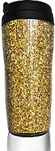MKLQ Yellow Leaf Gold Foil Texture Curved Coffee
